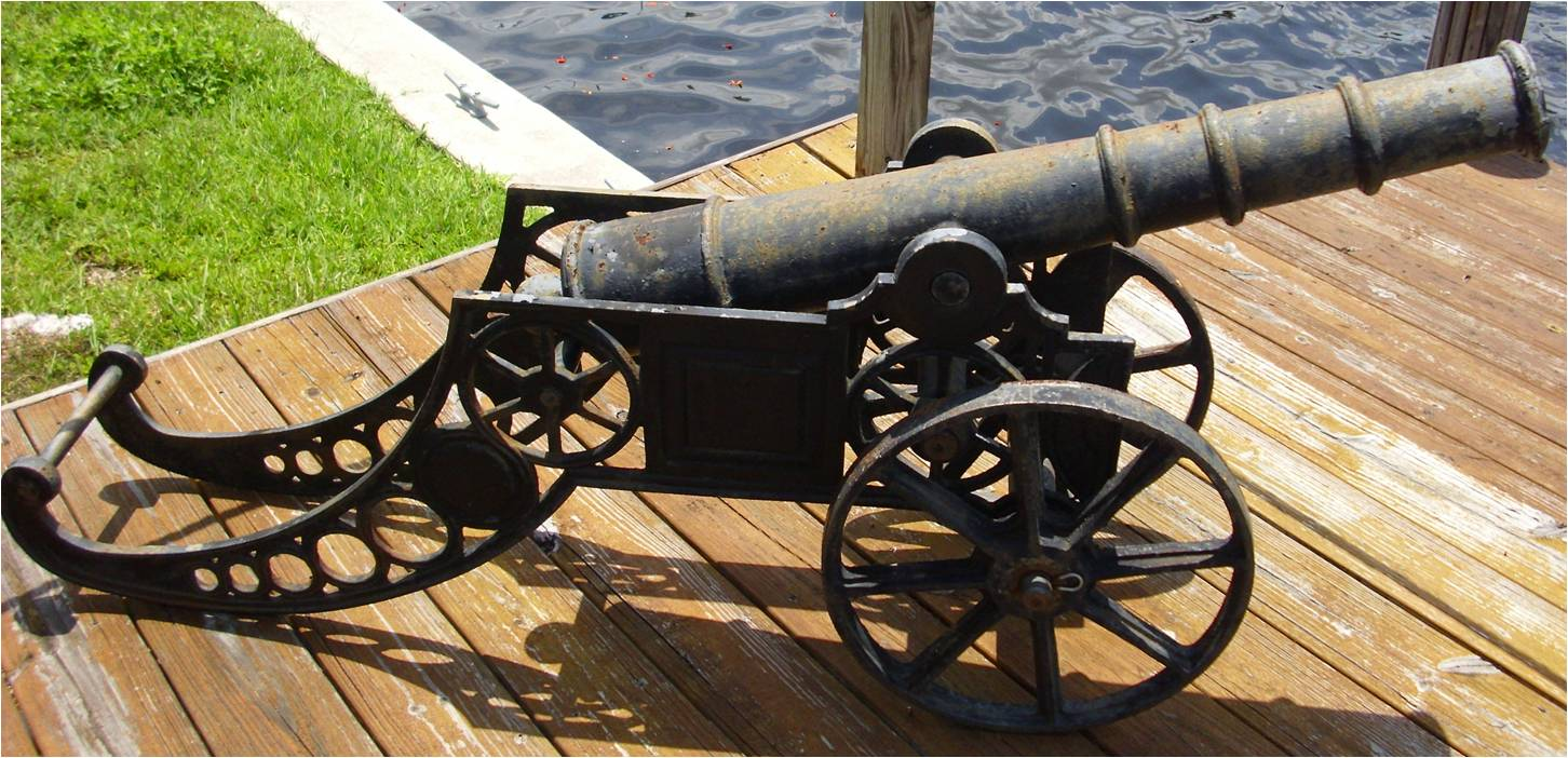 Civil War Cast Iron Cannon Captain Martin Nautical Antiques